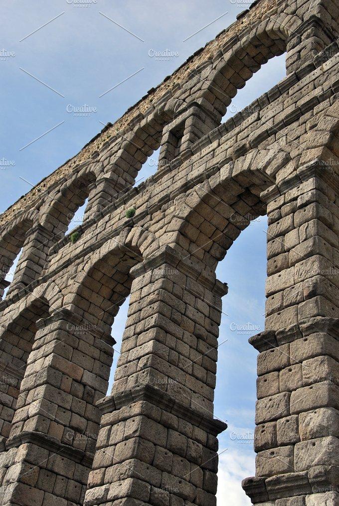 Aqueduct arches. Segovia. Spain - Architecture