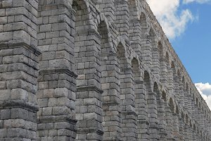 Spain. Aqueduct of Segovia.