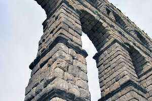 Aqueduct of Segovia . Spain