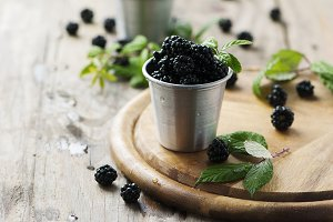 Sweet fresh blackberry