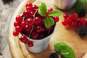 Fresh blackberry and red currant