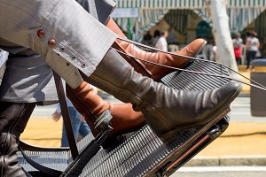 Seville's April Fair. Horsemen boots