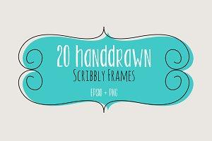 20 Handdrawn Scribbly Frames