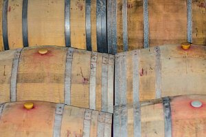 Used wine barrels