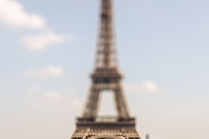 eiffel tower tilt shift effect