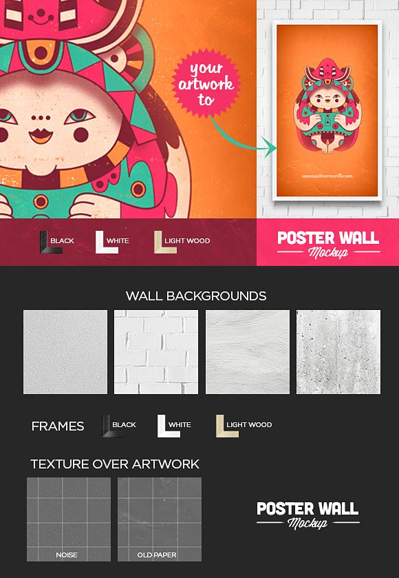 Poster and Flyer Wall Mockup