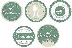 Landscape Services Badge/Logo, Vol 1