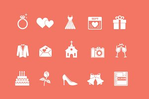 15 Wedding and Marriage Icons
