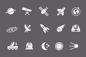 15 Space and Astronaut Icons