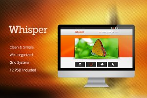 Whisper - PSD Template - nex