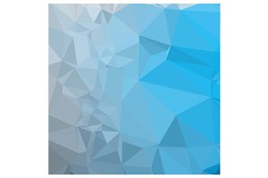 Capri Blue Abstract Low Polygon Back