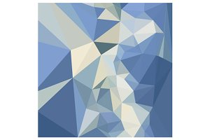 Columbia Blue Abstract Low Polygon B
