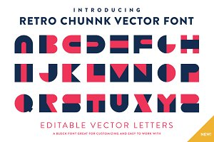 Retro Chunnk Vector Font