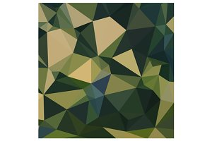 English Green Abstract Low Polygon B