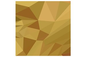 Goldenrod Yellow Abstract Low Polygo