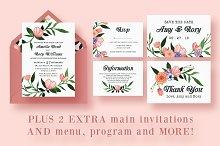 Floral Watercolor Wedding Suite