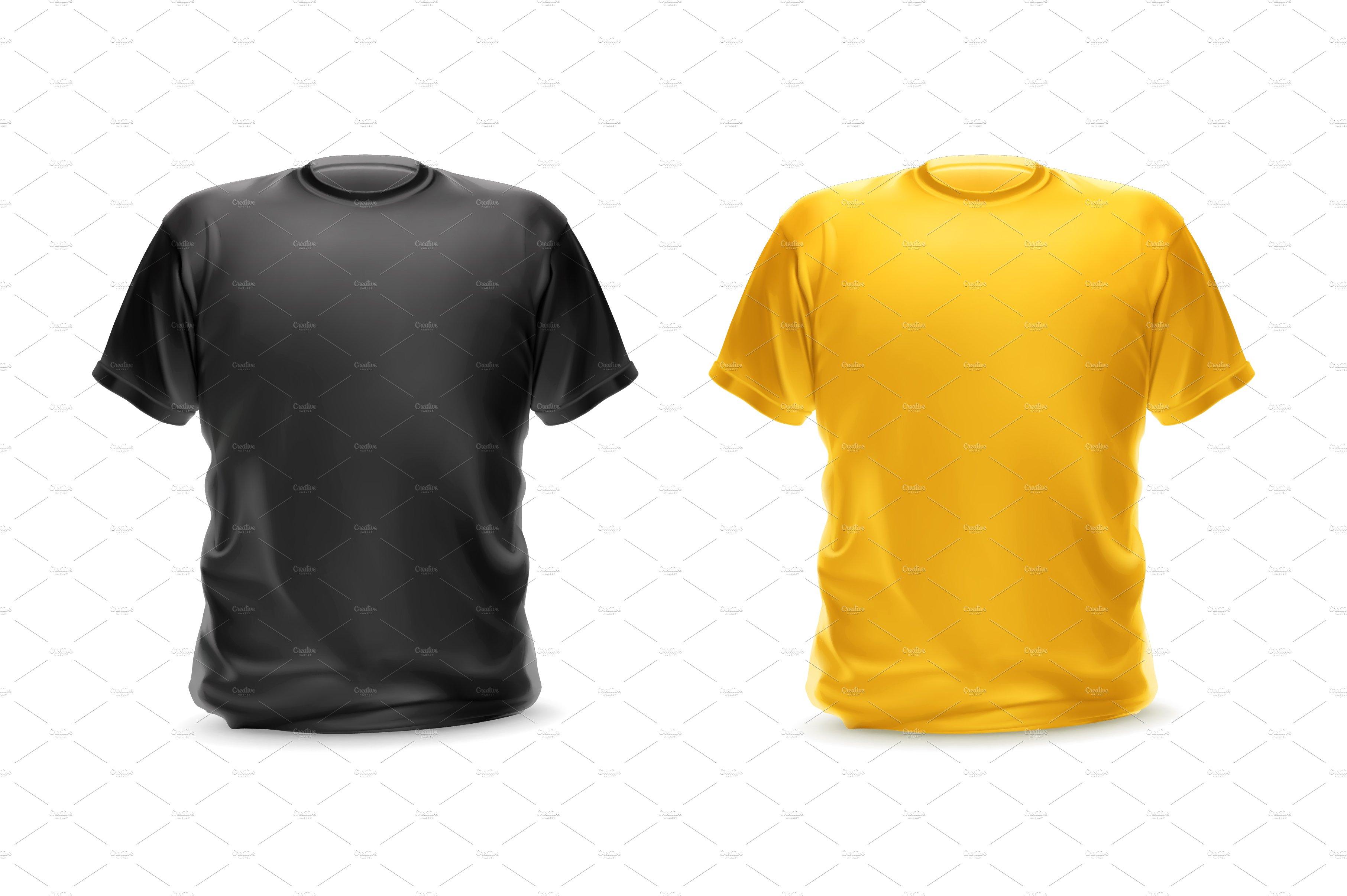 Black t shirt vector - Black And Yellow T Shirts