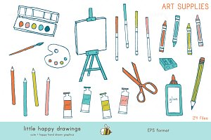 Art Supplies | Vector