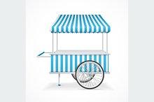 Market Cart. Vector