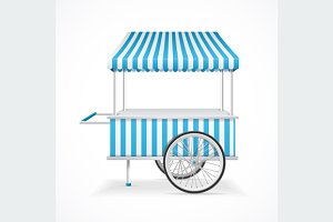 Market Cart. Vector