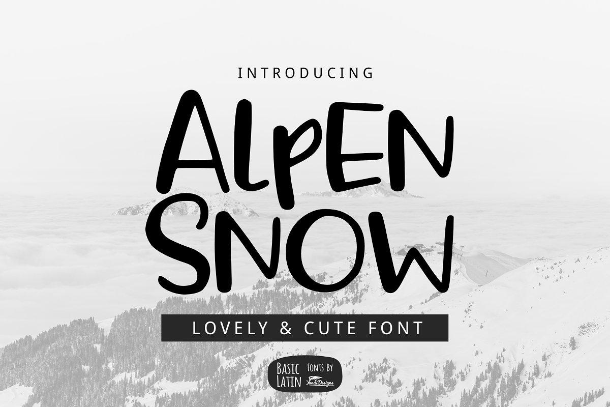 Alpen Snow Font