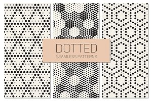 Dotted Seamless Patterns. Set 5