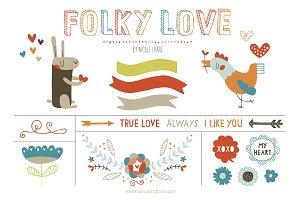 Folky Love (Clipart)