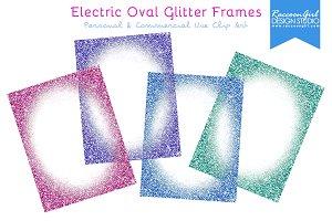 Electric Oval Glitter Frames
