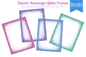 electric rectangle glitter frames illustrations on creative market