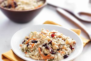 cold couscous organic salad