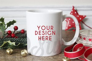 White Christmas Mug Stock Photo F146