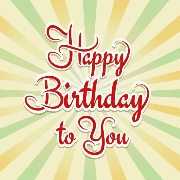 Happy Birthday Retro Card Graphics Creative Market