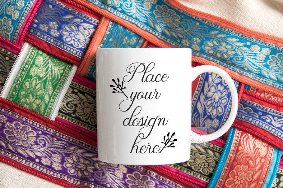 Oriental travel coffee mockup mug