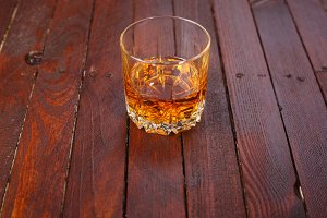 Whisky on wood