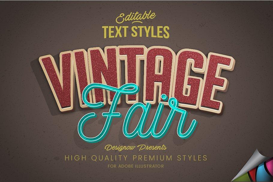 Vintage Retro Text Style