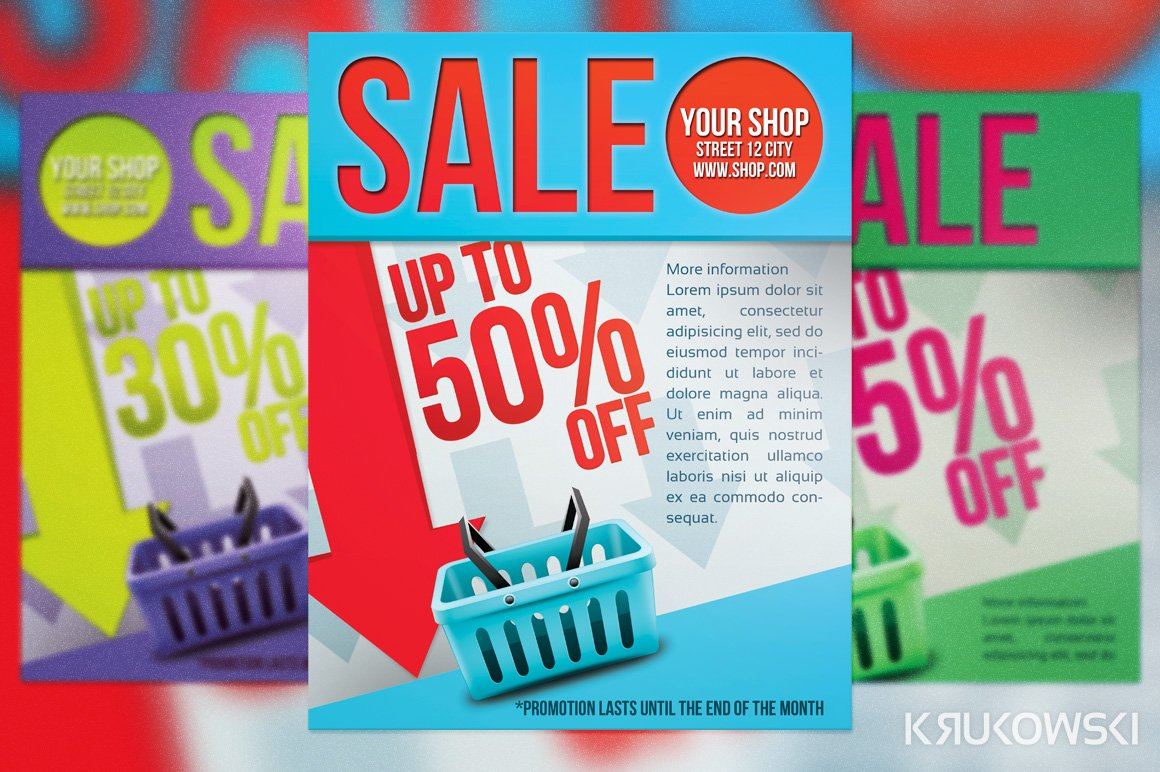 simple sale flyer poster flyer templates creative market