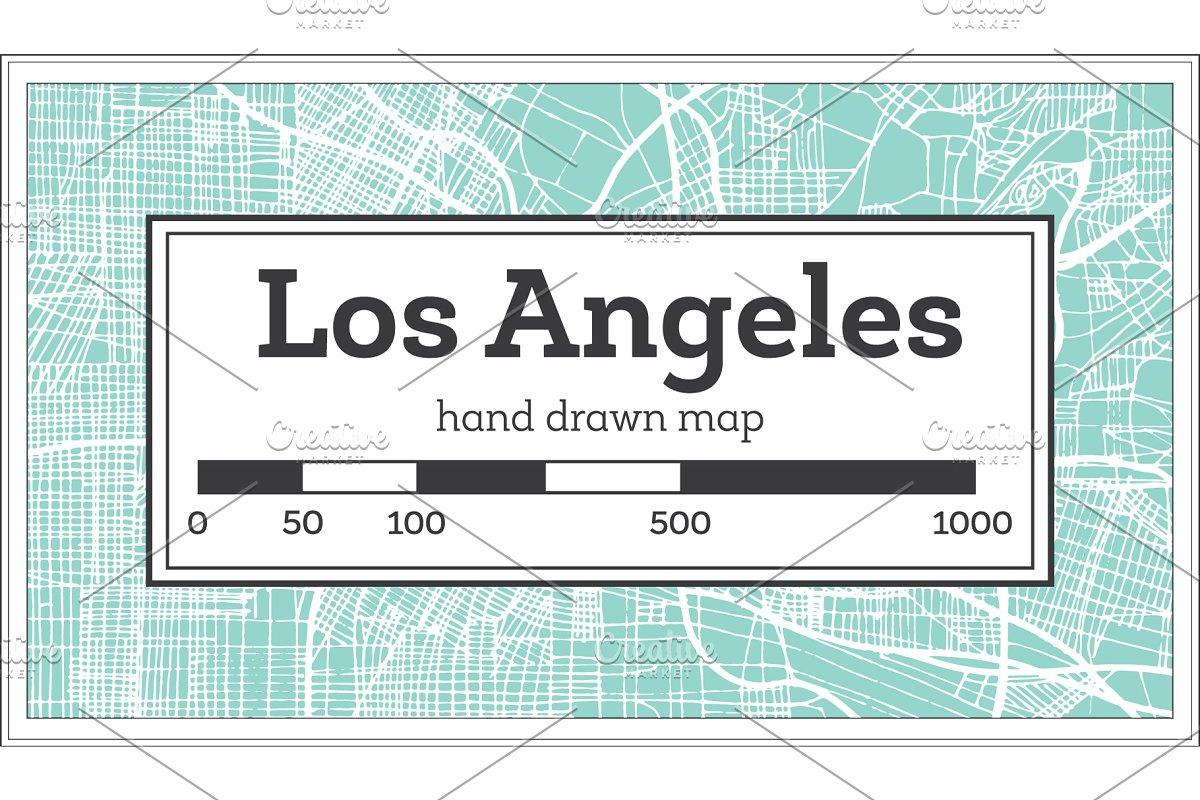Los Angeles California USA City Map ~ Illustrations ... on us states california cities, usa map los angeles, usa map san jose, usa map san diego, usa map oakland, usa map san francisco, usa map national city, usa map richmond, usa map sacramento, shapes california cities, zip code map california cities,