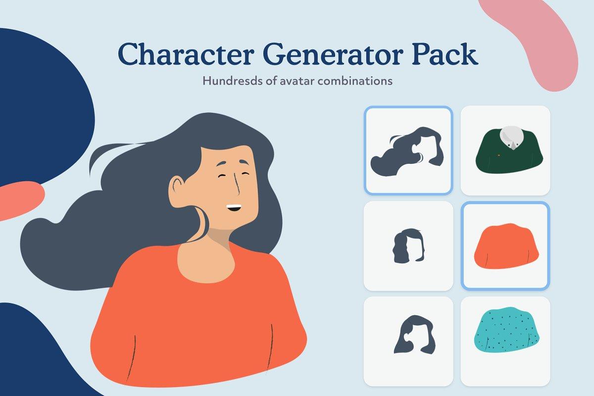 Female Character Generator ~ Illustrations ~ Creative Market