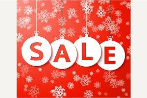 Christmas sale balls with snowflake