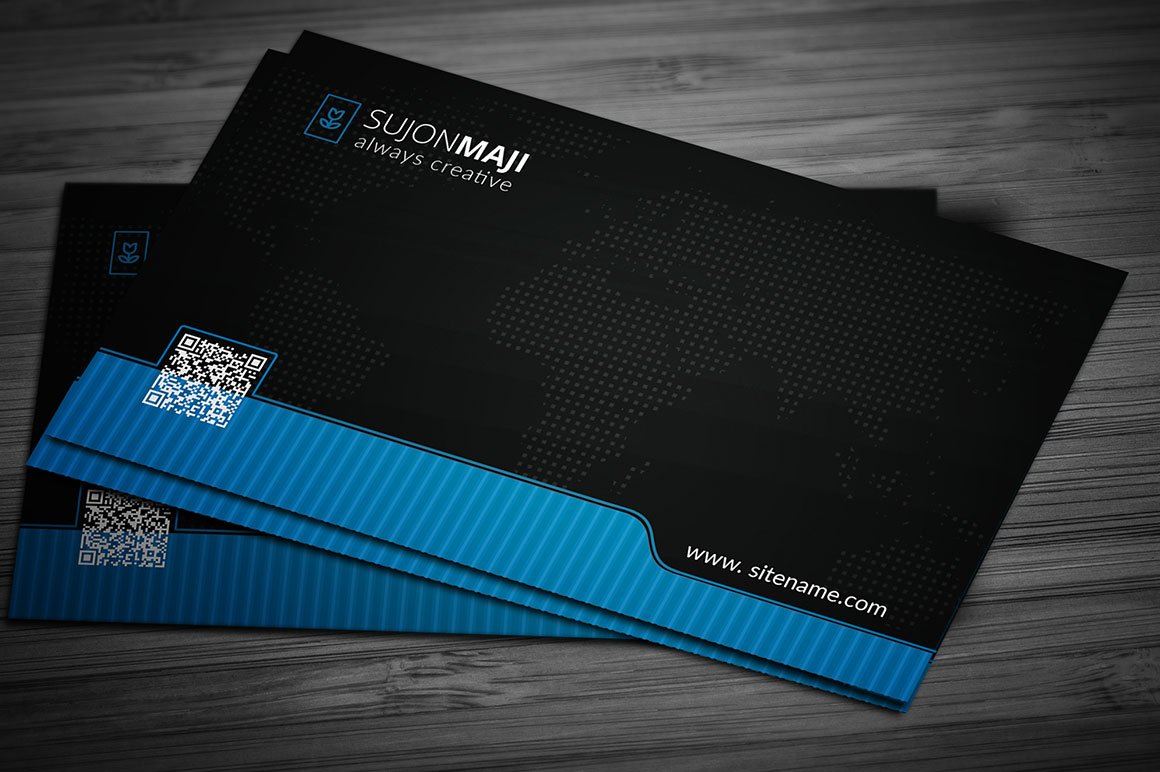 Pro & Black Business Card Template ~ Business Card Templates ...