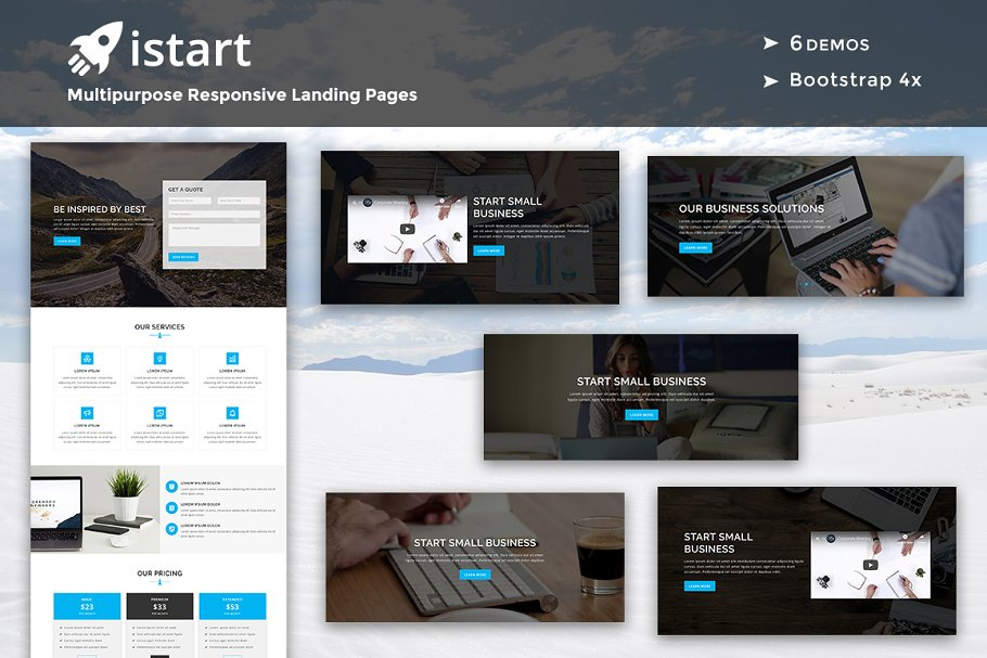 iStart -Responsive HTML Landing Page