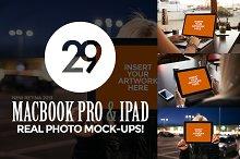 29 MacBook and iPad Photo Mock-Ups