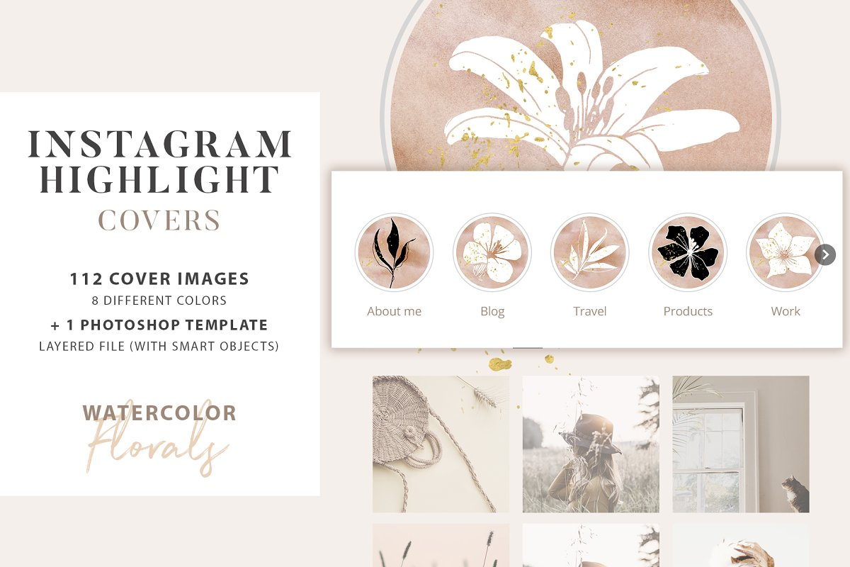 Floral Instagram Highlight Covers