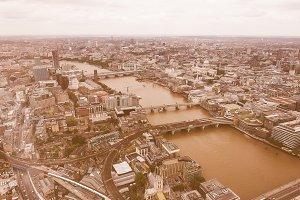 Vintage London aerial view