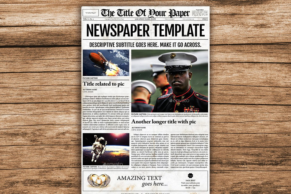 Old Style Newspaper Template Magazine Templates Creative