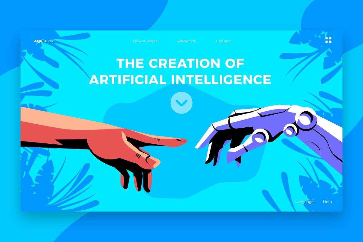 Creation of AI - Banner&Landing Page
