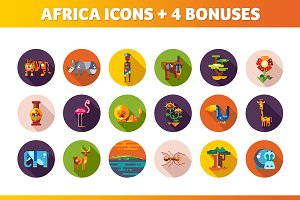 Africa Icons + Bonus Illustraitions