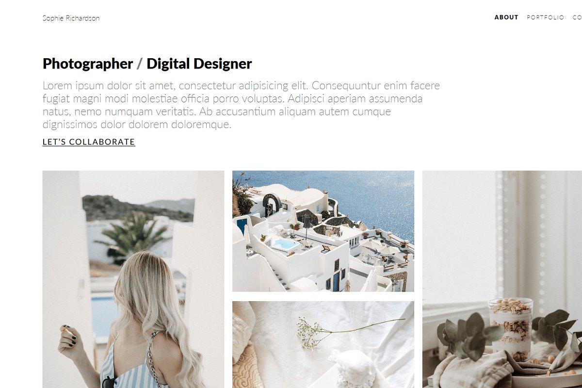 Sophie - Minimal Portfolio Theme
