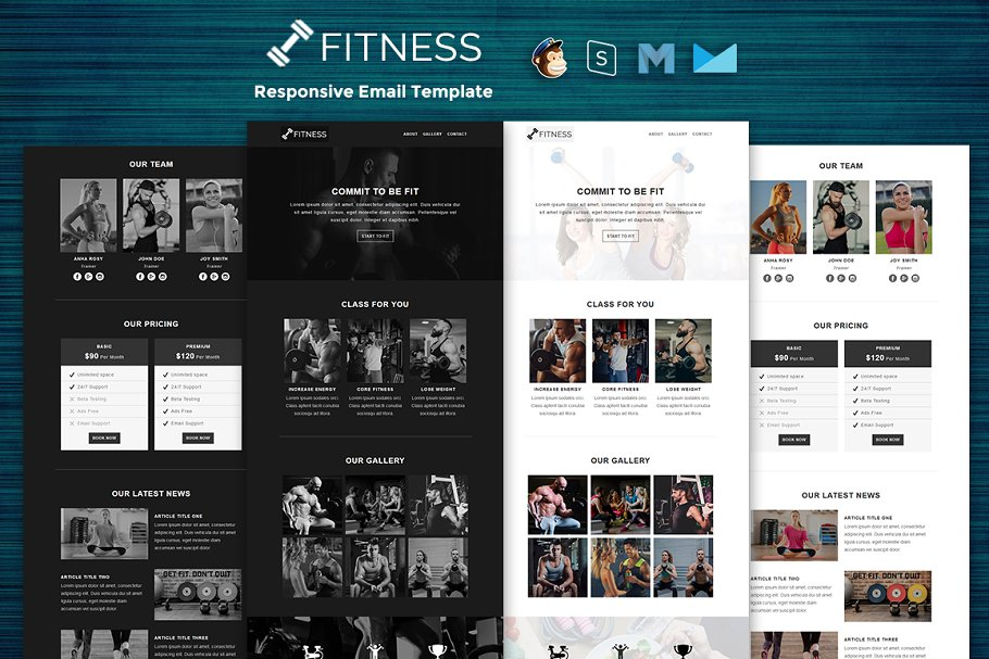 Fitness - Responsive Email Template