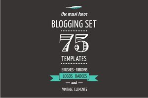 Blogging Set | templates, elements